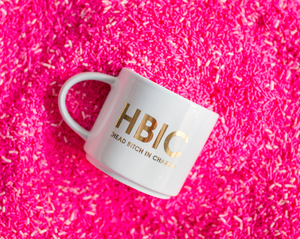 HBIC Metallic Gold Mug