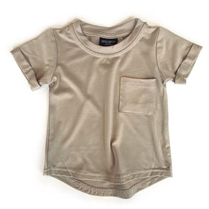Little Bipsy Pocket Tee-Taupe