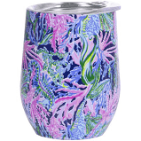Lilly Pulitzer Stainless Steel Wine Glass with Lid