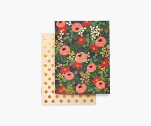 Rifle Paper Pair of 2 Rosa Pocket Notebooks