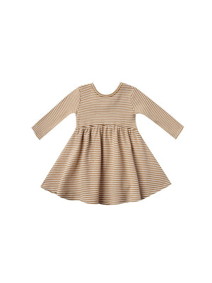 Quincy Mae Ribbed Long Sleeve Dress