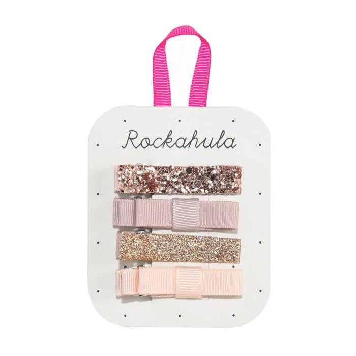 Rockahula Rose Gold Sparkle Bar Clips