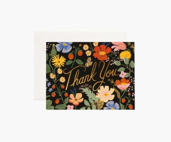 Rifle Paper Strawberry Fields Thank You Card