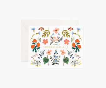 Rifle Paper Wildwood Congrats Card