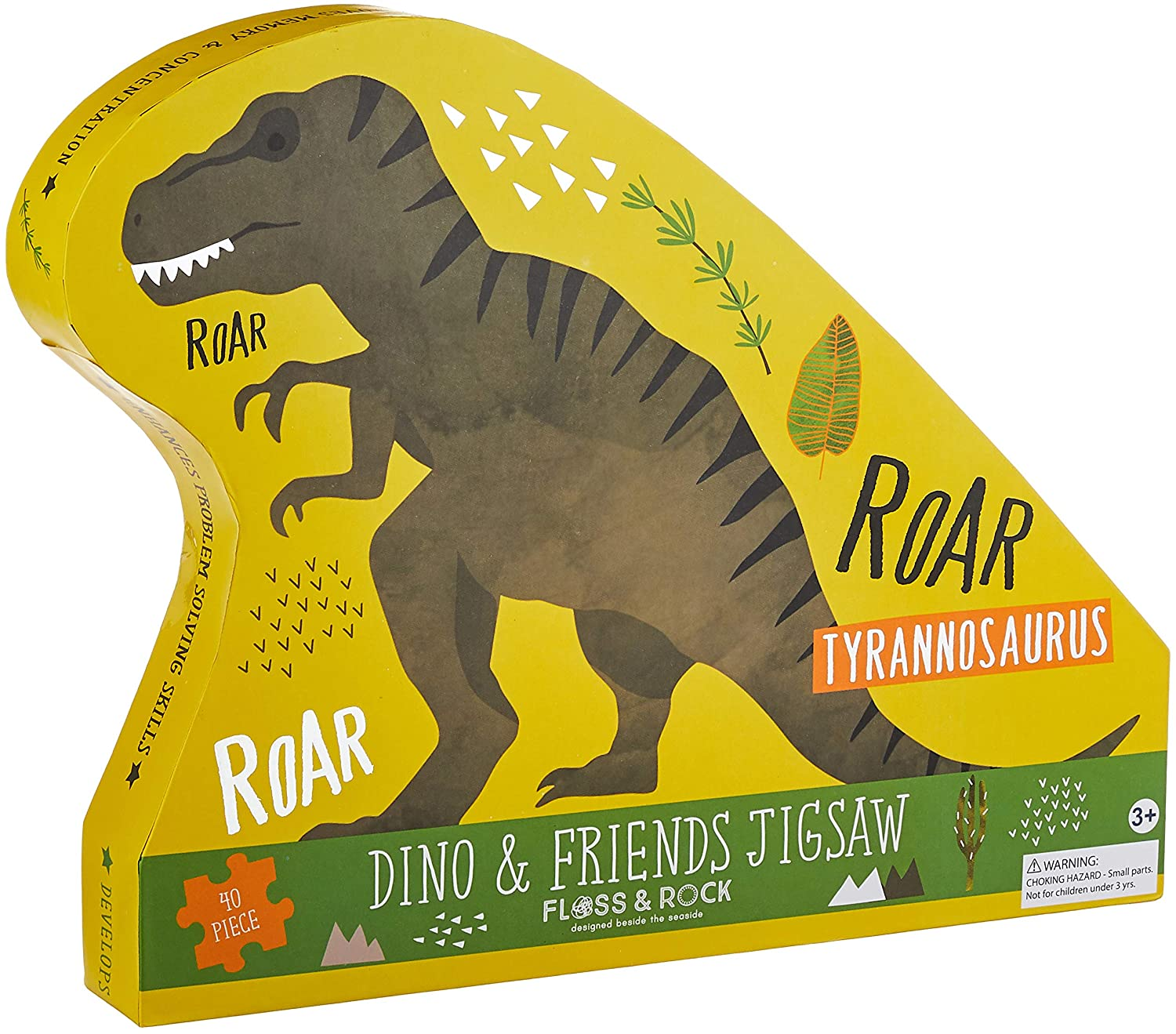 Floss and Rock Dinosaur 40pc Jigsaw Puzzle
