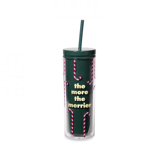 Kate Spade Tumbler with Straw More the Merrier