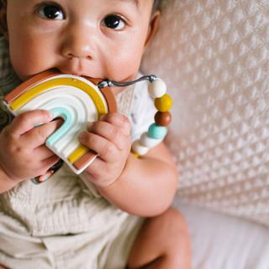 Loulou Lollipop Rainbow Teether