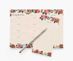 Rifle Paper Rosa Meal Planner