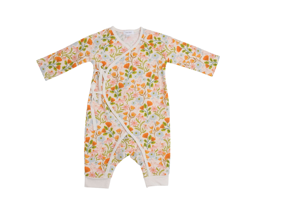Honest Earth Floral Wrap Coverall