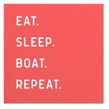 Eat Sleep Boat Napkin