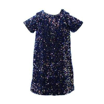 Lola and The Boys Midnight Dust Sequin Dress