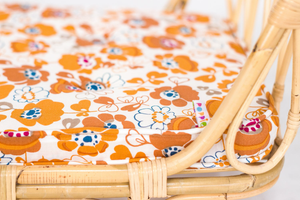 HANDMADE RATTAN CRIB FLOWER MATRESS