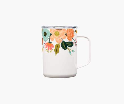 Corkcicle Rifle Paper Mug Lively Floral Cream