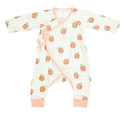 Plaid Peaches Wrap Coverall