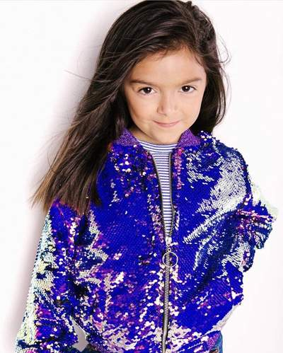 Lola and Boys Mermaid Magic Sequin Flip Bomber