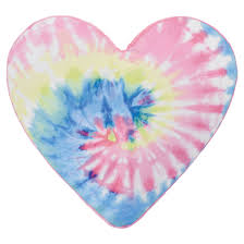 Iscream Tie Dye Heart Scented Pillow