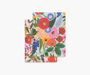 Rifle Paper pair of 2 Garden Party Pocket Notebooks