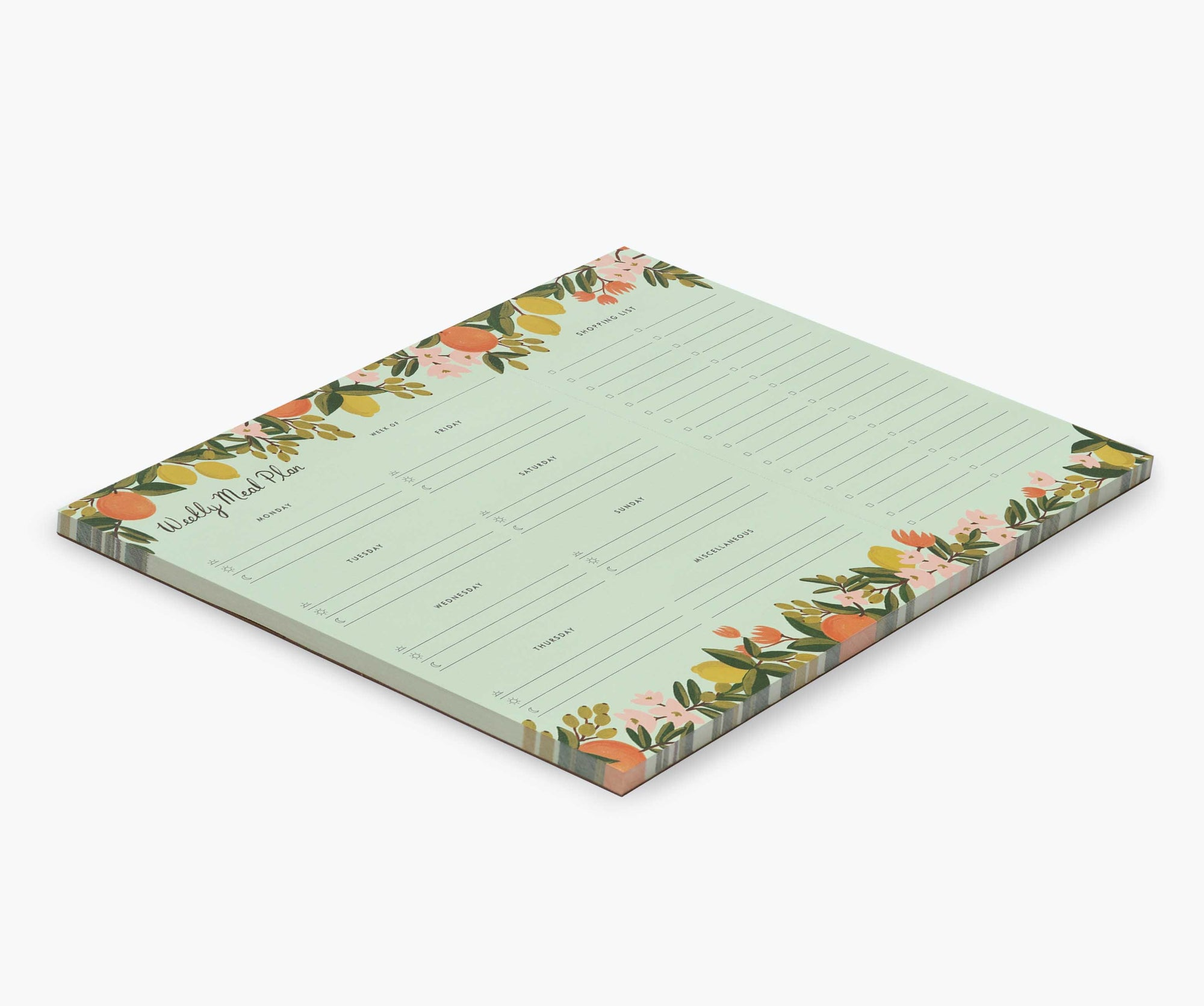 Rifle Paper Citrus Floral Meal Planner Notepad