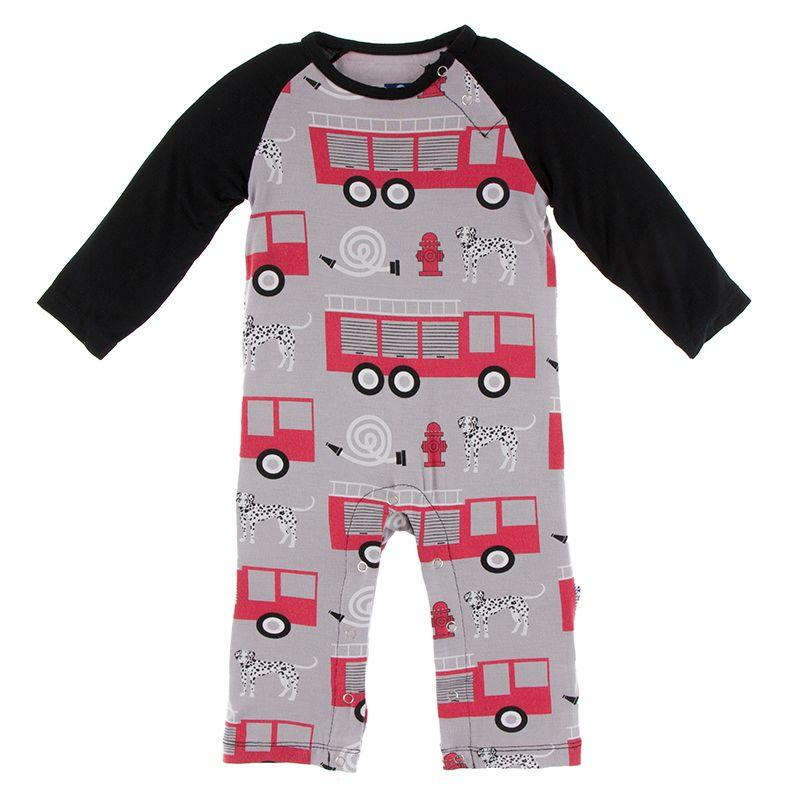 Kickee L/S Feather Firefighter Romper