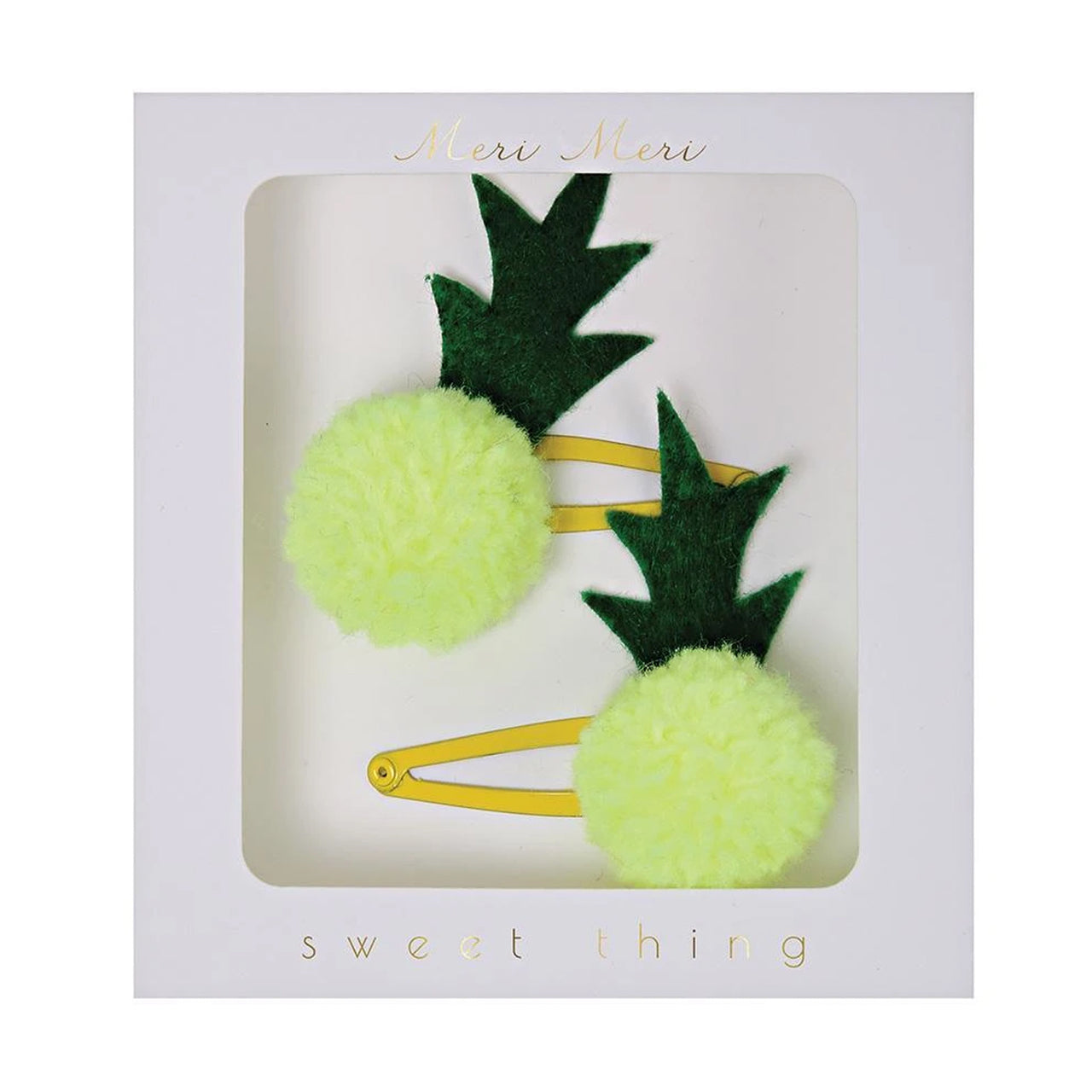 Meri Meri Pineapple Pom Pom Hair Clips
