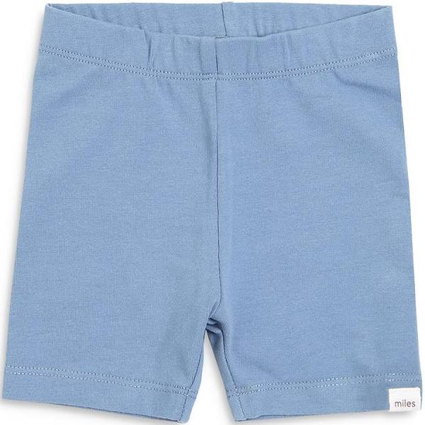 Miles Baby Knit Bike Short Blue Grey