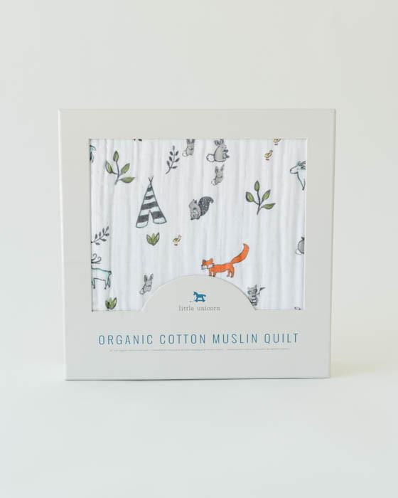 Little Unicorn Forest Friends Muslin Quilt