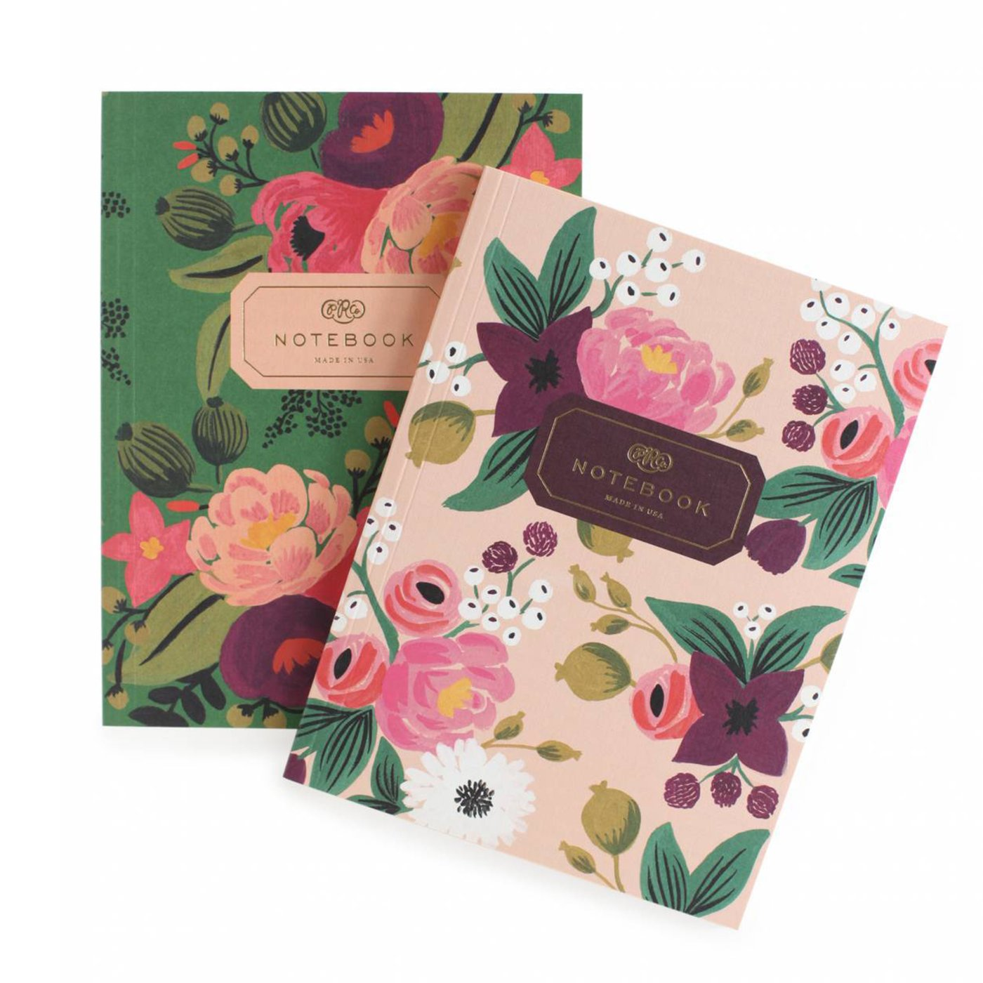 Rifle Paper Pair of 2 Vintage Blossoms Notebooks