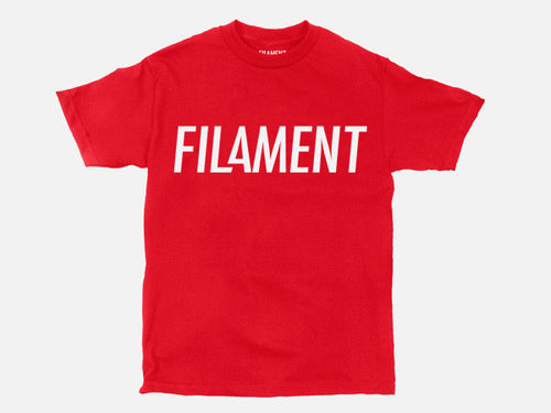 Filament Tee - Red/White