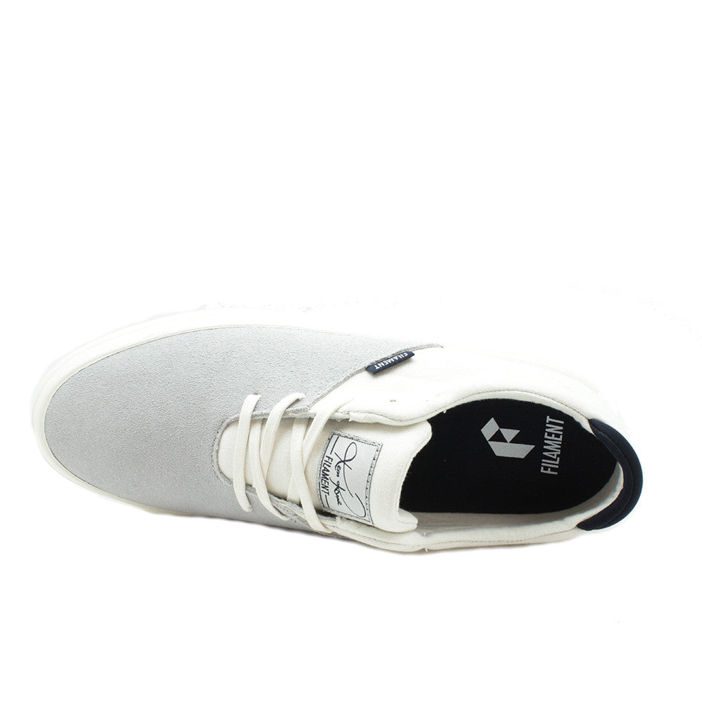 Romar - White/Grey/Suede/Canvas