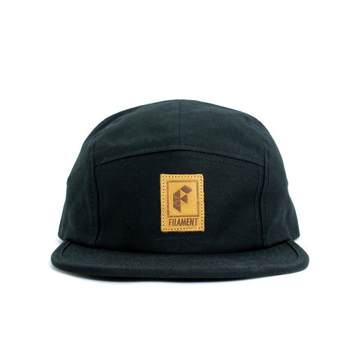 Patch 5 Panel Hat - Black