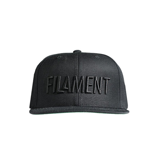 Filament Tonal 6 Panel Hat - Black