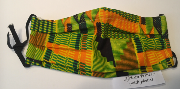 Green and Gold Kente Cloth
