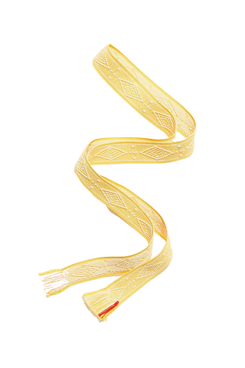 Soft Yellow and Natural Diamond Belt - BANDS OF LA - Shop the Shy Pony