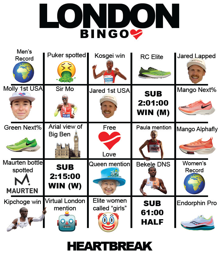 PLAY: London Marathon Bingo!