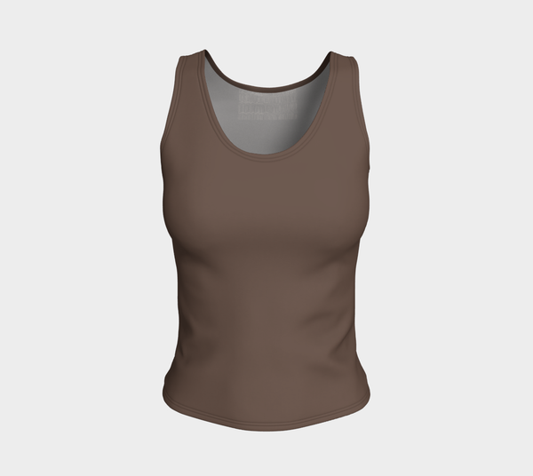 African Body Chalk - Fitted Tank - Earth Brown