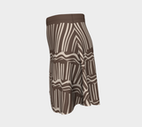 African Body Chalk Flared Skirt - Earth Brown
