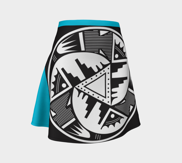 Pueblo Pottery Flared Skirt - Turquoise
