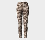 African Body Chalk - Yoga Legging - Earth Brown