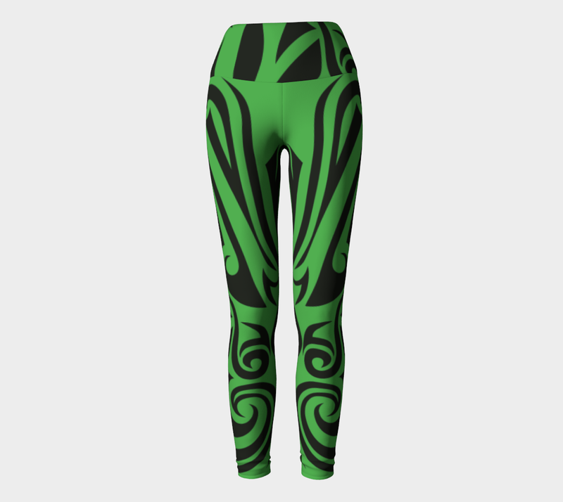 Islander Tattoo - Yoga Legging - Green