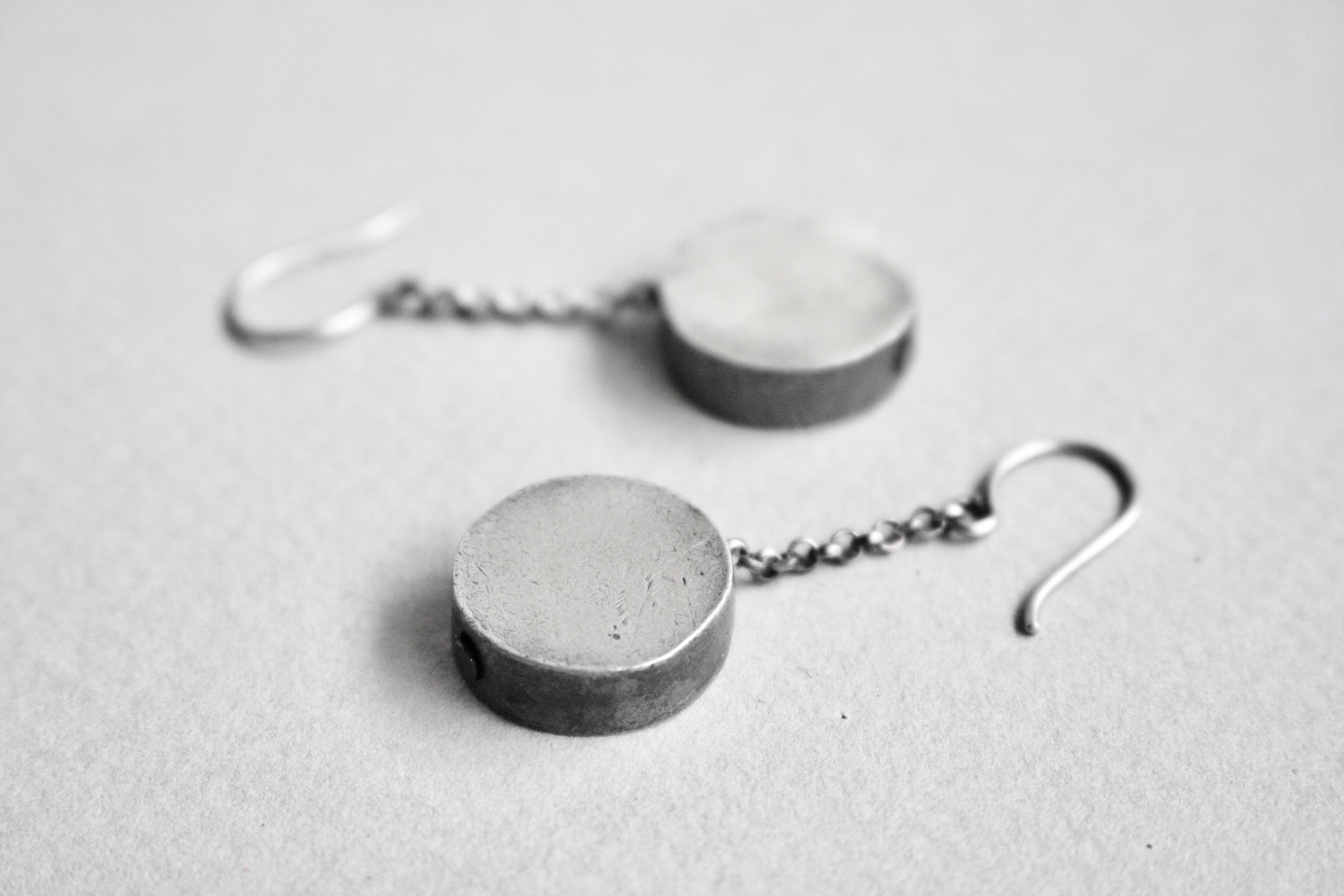 """MARISA CHAINED"" Silver Earrings"