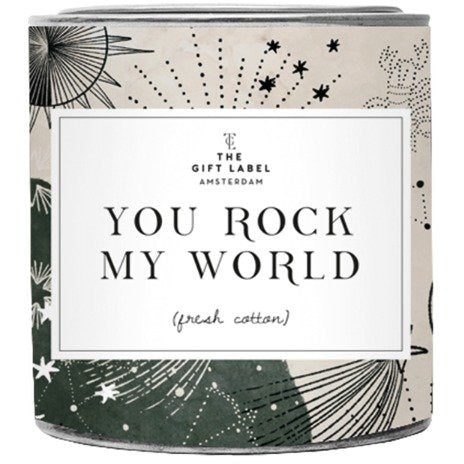 Candle tin small - You rock my world