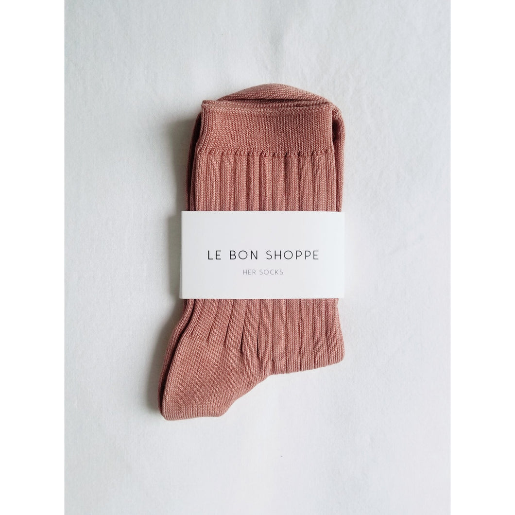 Her Socks cotton - Nude peach