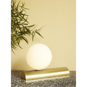 Table lamp brass/opal