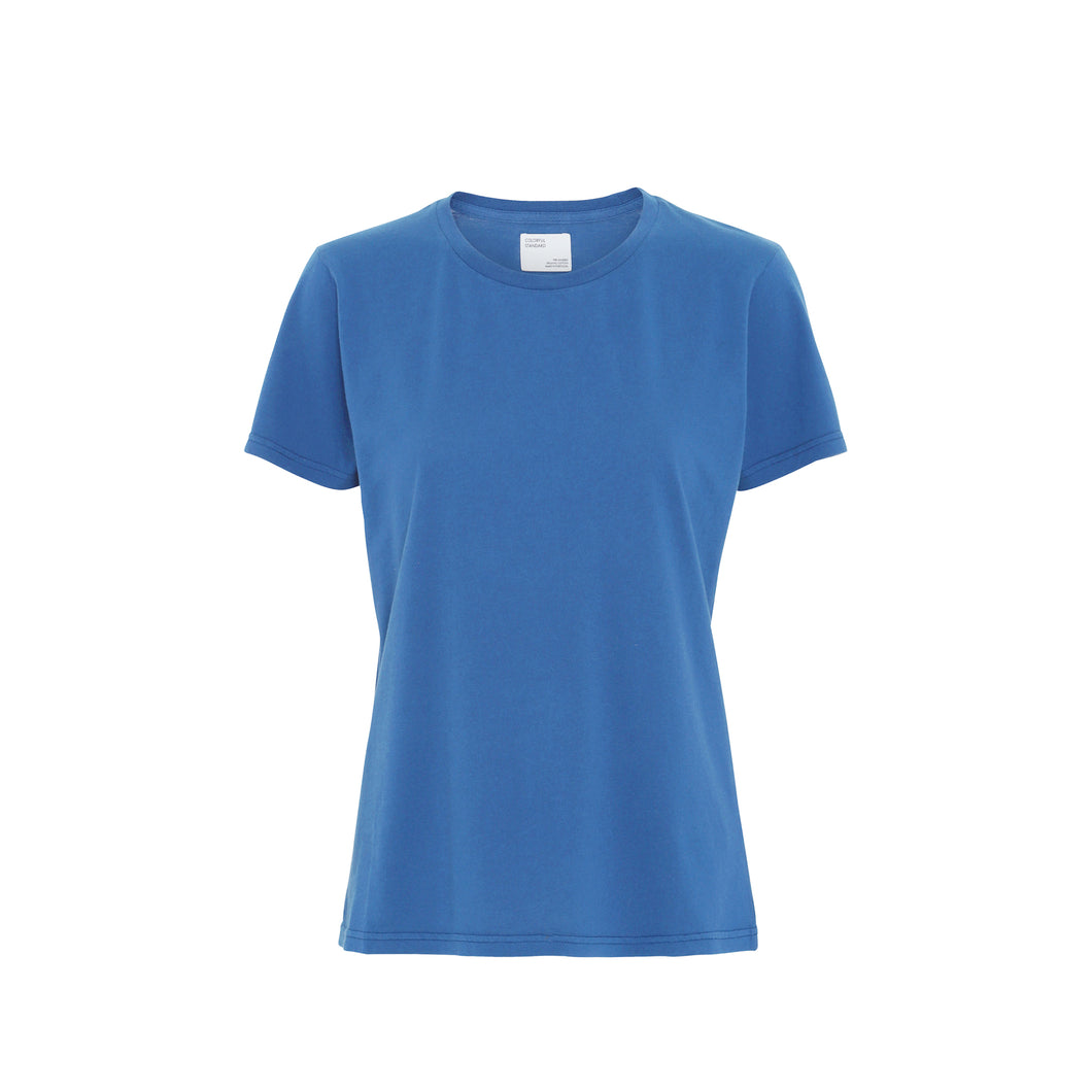 Women light organic tee - Sky blue