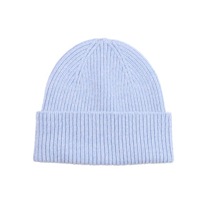 Merino wool hat - Polar blue