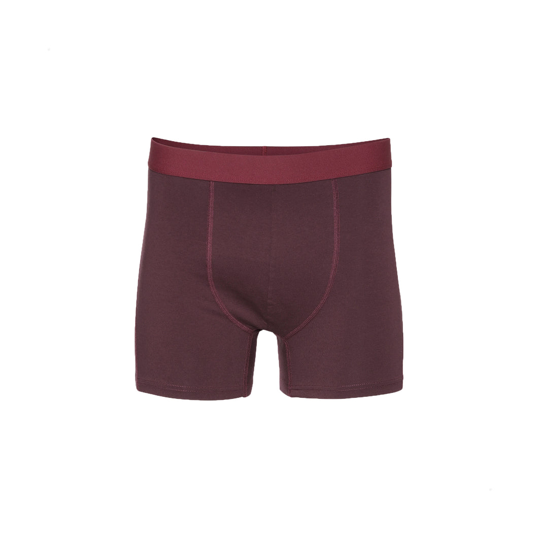 Classic organic boxer brief - Oxblood red
