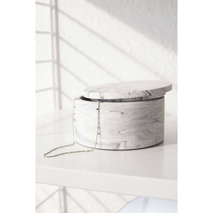 Dosa storage box - white marble