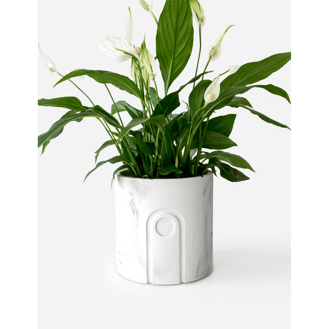 Jane planter white marble