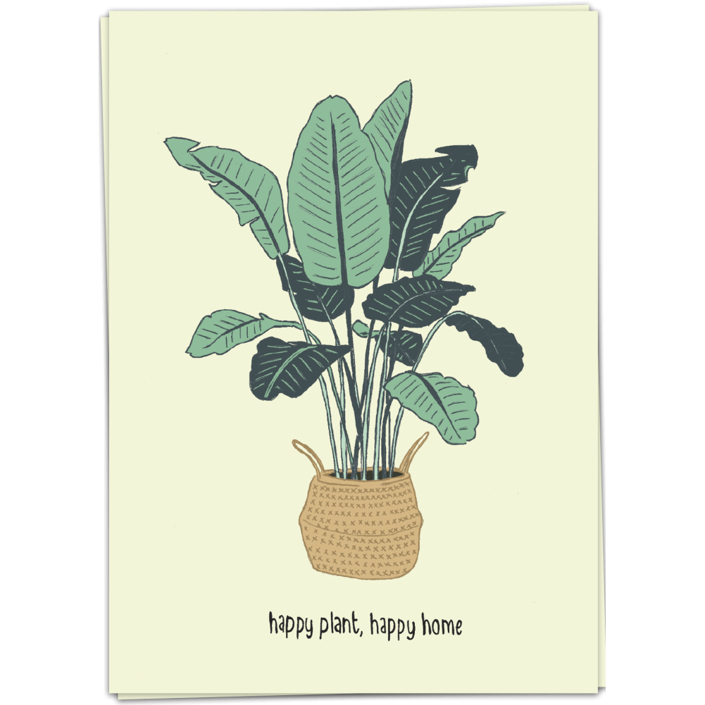 Kaart - Happy plant, happy home