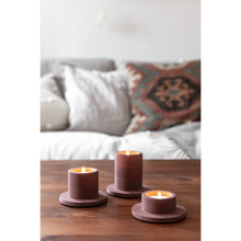 Afbeelding in Gallery-weergave laden, Portia tealight set marroon brown